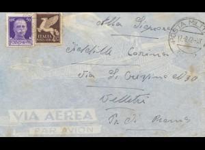 Italien: 1942: Posta Militare nach Roma