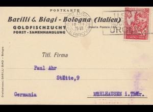 Italien: 1929: Bologna nach Mühlhausen