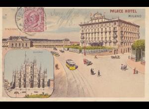 Italien: 1913: Ansichtskarte Milano nach Sondershausen