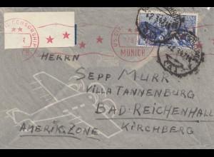 Italien: 1947: nach Bad Reichenhall- München Zensur als Freistempel