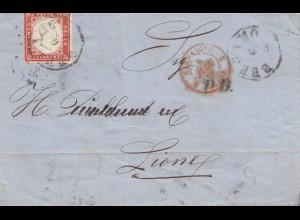 Italien: 1861: Bergamo nach Frankreich via CULOZ