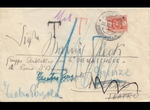 Italien: 1937: Roma nach Firenze - Taxe