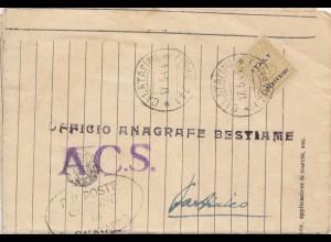 Italien: 1944: Calatafimi / Partinico, Anagrafe bestiame equino