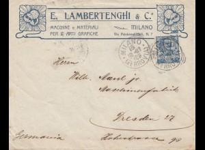 Italien: Milano 1907 nach Dresden