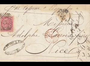 Italien: 1867: nach Nice über Genova