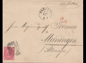 Italien: 1873 Napoli nach Meiningen
