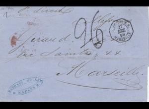 Italien: 1859: Naples nach Marseille