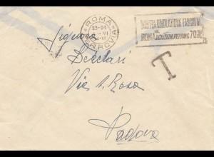 Italien: 1934: Roma nach Padova - Taxe