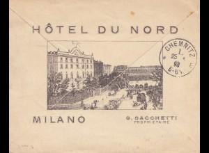 Italien: 1893: Milano nach Chemnitz