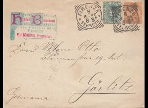 Italien: 1895: Firenze nach Görlitz