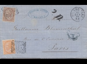 Italien: 1874: Milano nach Paris
