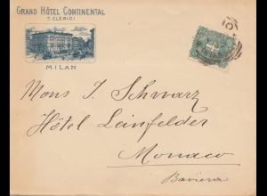 Italien: 1899: Milan nach Monaco