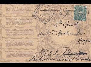 Italien: 1902: Ansichtskarte nach Frankreich