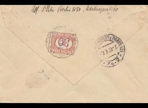 Italien: 1925: Berlin nach Bozen - Taxe