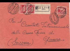 Italien: 1945: Zevio/Verona nach Genf