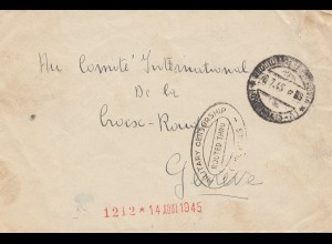 Italien: 1945: an das Comité Croix Rouge - Schweiz - Zensur