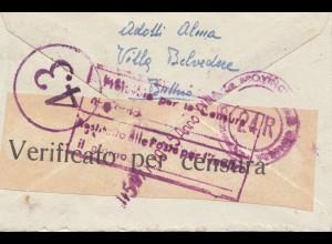Italien: Brief nach Udine - Zensur