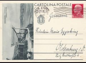 Italien: 1937: Ganzsache Firenze nach Oldenburg