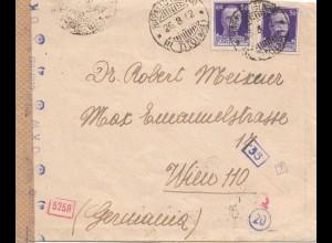 Italien: 1942: Rappallo nach Wien - Zensur