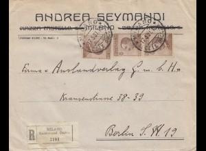 Italien: 1921: Milano nach Berlin