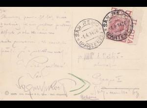 Italien: 1914: Ansichtskarte San Remo