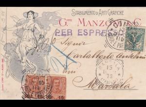 Italien:1905: Como nach Marsala