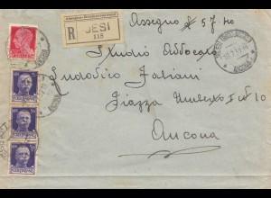 Italien:1932: Jesi nach Ancona