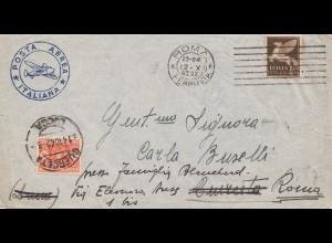 Italien: 1942: Posta Aerea Italiana - Guerceta nach Roma