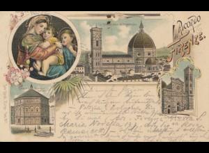 Italien: 1897: Ansichtskarte Firenze nach Wien