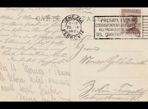 Italien: 1921: Venezia nach Berlin
