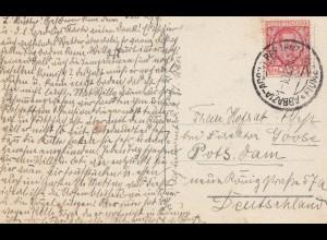 Italien: 1928: Ansichtskarte Abbazia nach Deutschland