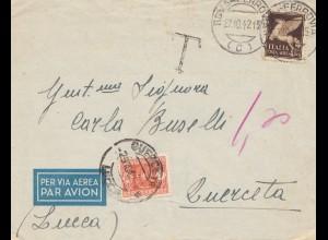 Italien: 1942: Roma Ferrovia nach Lucea - par Avion