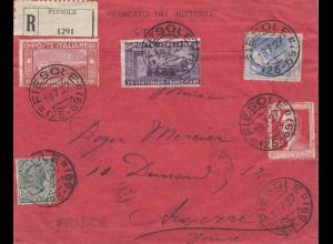 Italien: 1927: Fiesole nach Frankreich