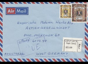 Libyen: 1977: Air Mail Tripoli nach München