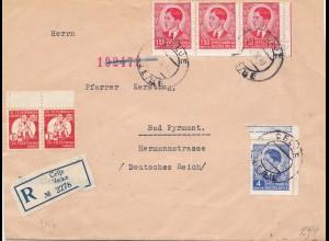 Jugoslawien: 1940: Celje nach Bad Pyrmont, OKW Zensur, Vorderseite