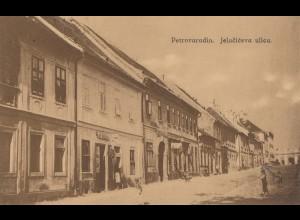 Jugoslawien: 1934 Ansichtskarte Petrovaradin nach Klosterburg