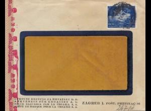 Jugoslawien: 1942 Zagreb mit OKW Zensur