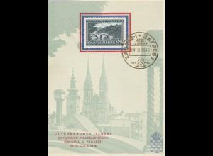 Jugoslawien: 1940 Zagreb Filatelistickog - Gutenbergova