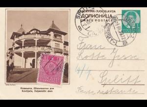 Jugoslawien: 1939: Ganzsache Split