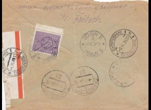 Jugoslawien: 1939: Luftpost Prenzlau nach Zagreb und weiter ....