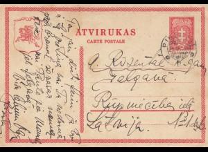 Litauen: 1938 Ganzsache nach Lettland