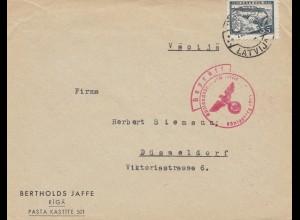 Lettland: 194x Riga nach Düsseldorf - OKW Zensur