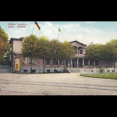 Lettland: Ansichtskarte Libau Kurhaus