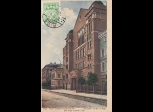 Lettland: 1927: Ansichtskarte Riga nach Offenbach/Main