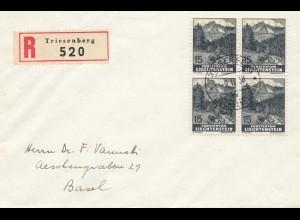 Liechtenstein: 1938: Vaduz nach Basel