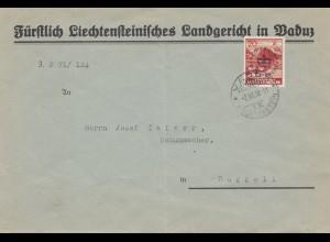 Liechtenstein: 1938 Vaduz nach Ruggell - Landgericht