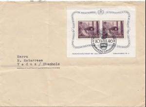 Liechtenstein: 1946: Vaduz Eröffnung Poststelle