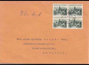 Liechtenstein: 1945: Vaduz nach St. Gallen