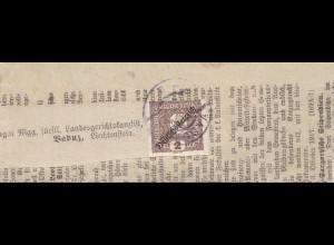 Liechtenstein: 1917: Deutsch-Österreich: Zeitung nach Vaduz
