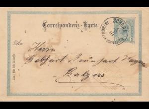 Liechtenstein: 1901: Ganzsache Schaan